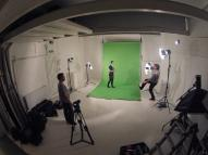 Green Screen during the 48 music video project