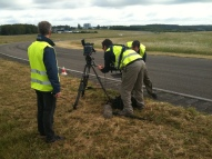 Filming on the test track