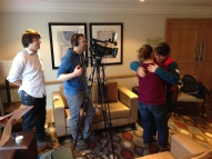 Live broadcast in to BBC Breakfast via LiveU with Davina and Mel Giedroyc