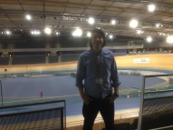 Filming at the Velodrome