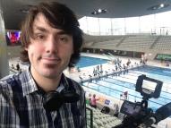Filming at the Aquatics Centre