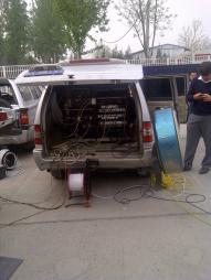 A satellite truck in Beijing